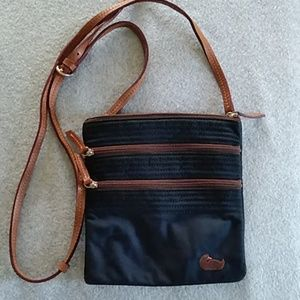 Dooney & Bourke triple zipper crossbody bag, used
